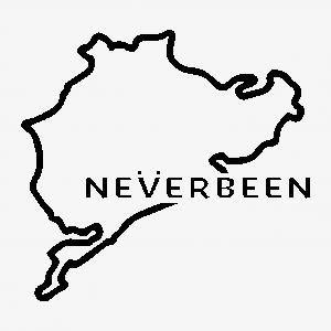 Neverbeen (Nürburgring sticker)