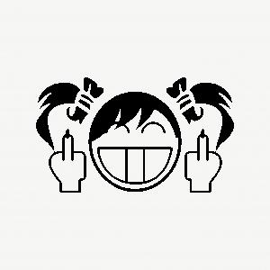 Middle finger girl emoji