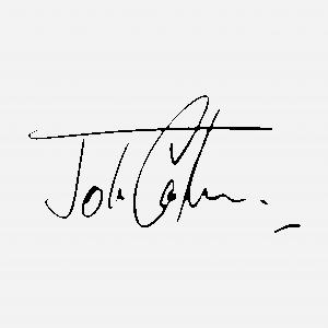 Handtekening van John Cooper