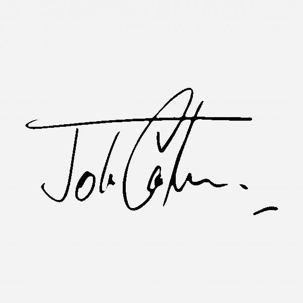 Handtekening John Cooper